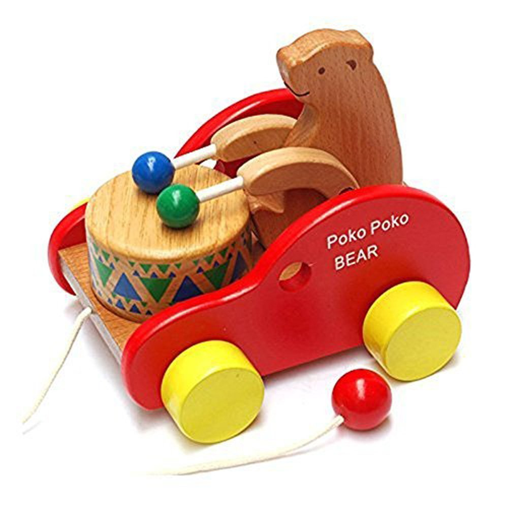 Educational Toys For Toddlers 2 4 : Juled wooden pull along toy kids creative educational
