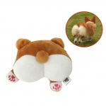 CheeseandU 1Pc Corgi Butt Puppy Toy Cute Funny Plush Corgi Butt Shape Stuffed Squeak Toy Small Dog Chewing Teeth Cleaning Toy Soft Doll Gift Valentine's and Birthday Gift, Bedroom Decor Toy Pillow