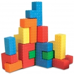 Edushape Easy Grip Soft Foam Sensory Puzzle Blocks, 18 Piece Edushape
