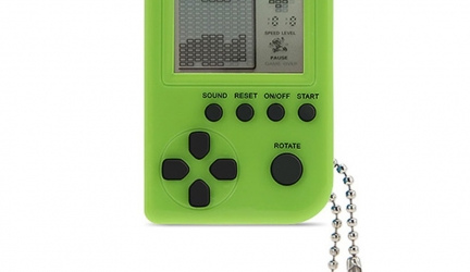 Mini Keychain Pendant Game Tetris Game Toy Exquisite Gift Packaging Toys Built-in 26 Games (Green)