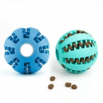 Pet Soft Rubber Health Teeth Interactive Chew Toy Ball For Dog & CATS Training/Playing/Chewing Ball Mint Flavor Pet Biting Dog Ball