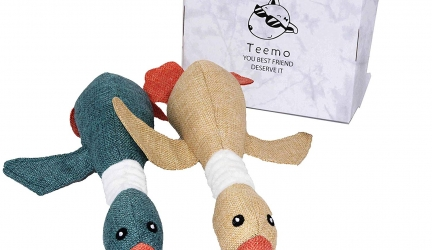 TEEMO Two Fantastic Quality Dog Toys in Beautiful Gift Box(Stuffed Squeaking Duck Toy)