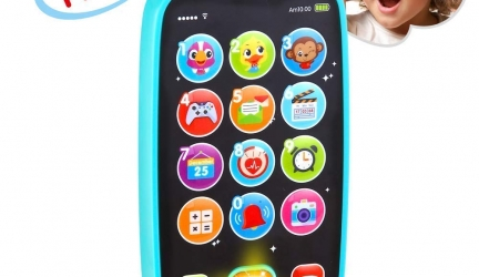 VATOS Baby Toys, Baby Play Phone Toys with Lights, Music| Early Educational Learning Toys for Baby 8M -12M -24M + My First Smartphone| Click& Count, Call & Chat for Role-Play Fun Toy for One Year Old